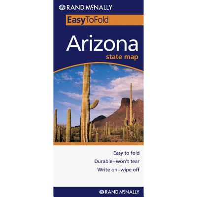 Easy To Fold Arizona State Map
